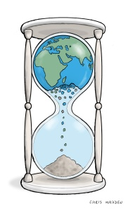 earth as hourglass