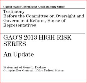 GAO report 2013