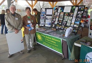 Les and Joni Grady at CAAV's booth at Blacks Run CleanUp Green Scene April 13, 2014. © John Reeves