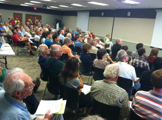 Full house at Solarize Hburg's June 2, 2014, exploratory forum.