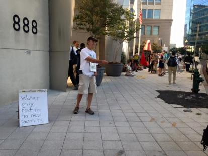 Day 1, Charlie leafleting in front of FERC headquarters