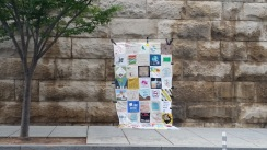 The quilt made by supporters of the fast.