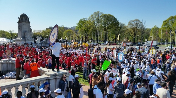 Marching to the Capitol.