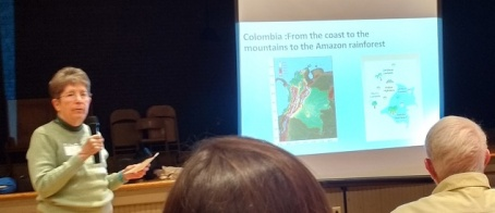 Joni Grady giving background on Columbia.