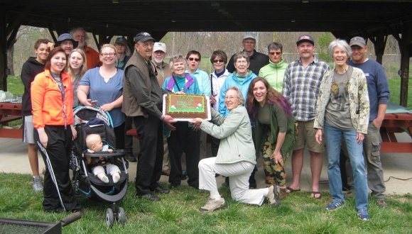 CAAV celebrated 10 years as an organization at the Earth Day picnic. Chocolate cake must be mandatory for 10 year-olds' birthdays!