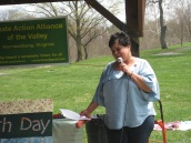 Mayor Deanna Reed addressed the group. Can Harrisonburg be an environmental leader?